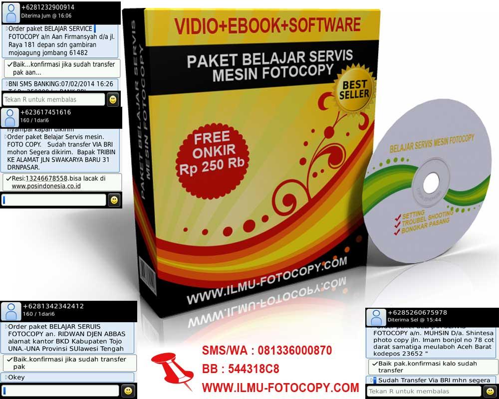 PAKET DVD BELAJAR SERVIS MESIN FOTOCOPY